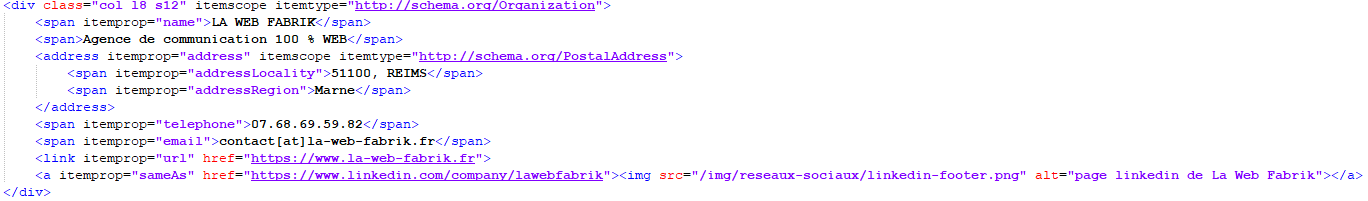 exemple de données structurées