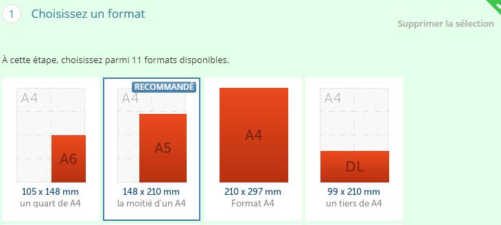 Format papier comminication print